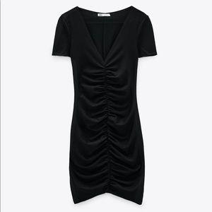 Zara TRF Draped Mini Dress